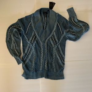 Rag & Bone Lucie V neck Lacing Sweater
